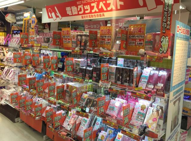 信長書店の大人のおもちゃ・アダルトグッズの売上上位はベストコーナーへ!