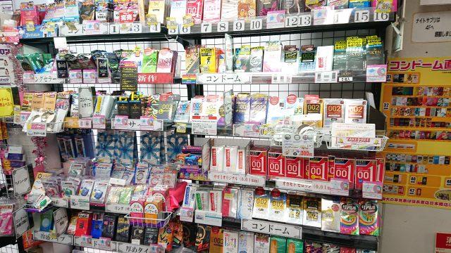 信長書店梅田東通店、コンドーム売場